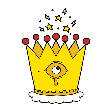 cartoon magic crown