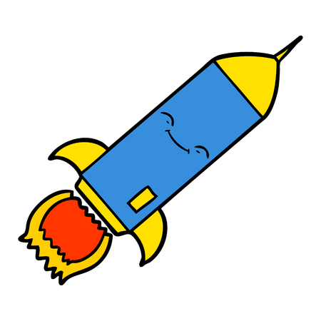 cartoon rocket illustration design.