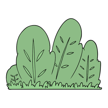 cartoon hedge illustration design.