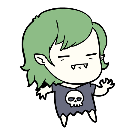 cartoon undead vampire girl