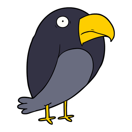 cartoon crow illustration design.