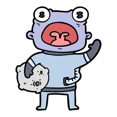 Estrangeiro estranho dos desenhos animados que comunica-se Foto de archivo - 94880851