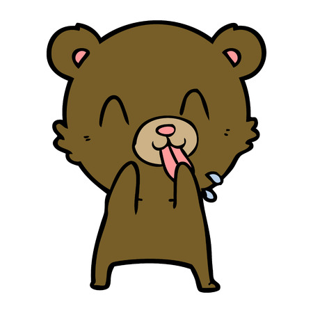 rude cartoon bear Illustration