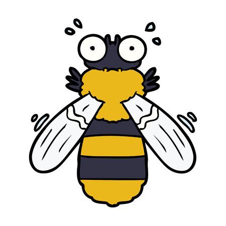 cartoon bee illustration design. Illustration