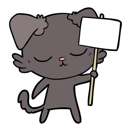 cute cartoon dog Ilustracja