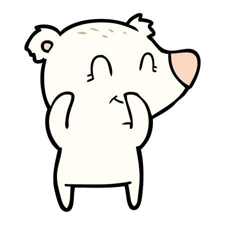 giggling polar bear cartoon