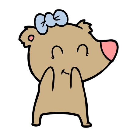 Cartone animato orso femmina Archivio Fotografico - 94887522