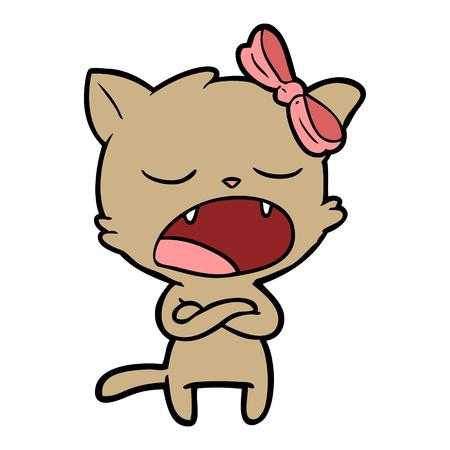 geïrriteerde cartoon kat