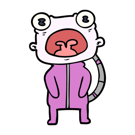 Estrangeiro estranho dos desenhos animados que comunica-se Foto de archivo - 94884610