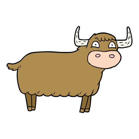 cartoon highland cow