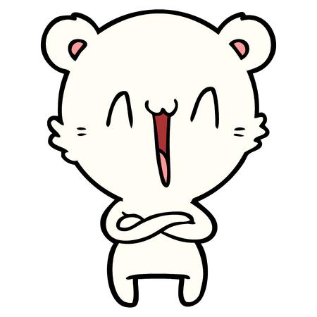 행복한 북극곰 만화 일러스트