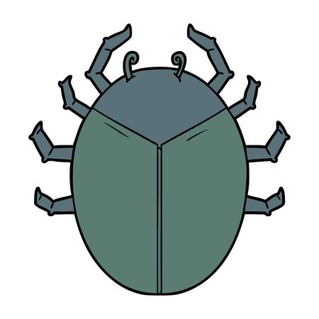gigantische bug cartoon Stock Illustratie