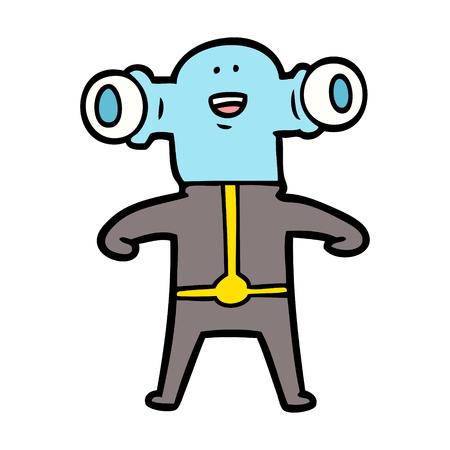 Alien amigável dos desenhos animados Foto de archivo - 94885049