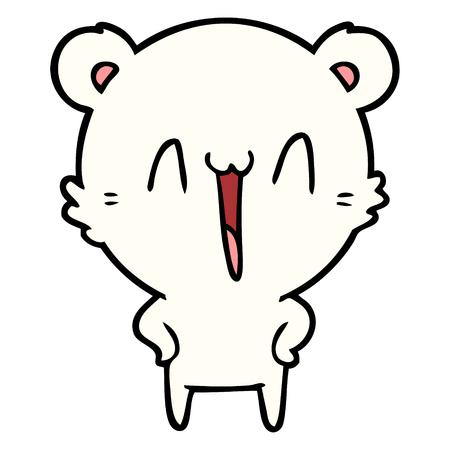 행복한 북극곰 만화 스톡 콘텐츠 - 94971423