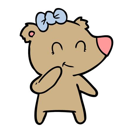 Cartone animato orso femmina Archivio Fotografico - 94907393