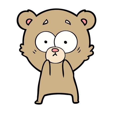 anxious bear cartoon Stock Illustratie