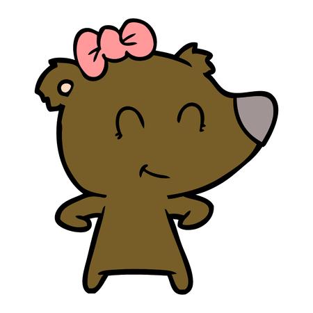 Cartone animato orso femmina Archivio Fotografico - 94971953