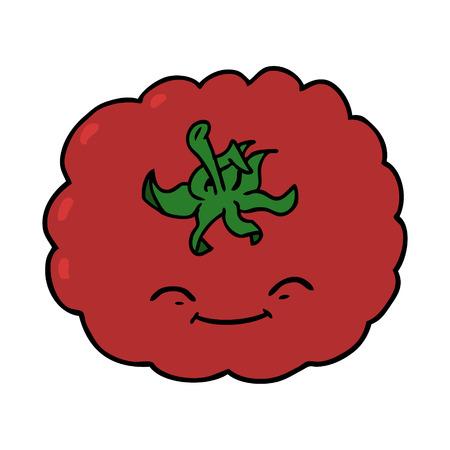 cartoon tomato Ilustracja