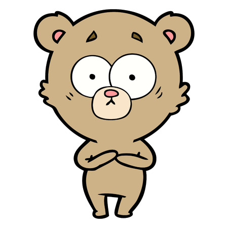 驚いたクマの漫画
