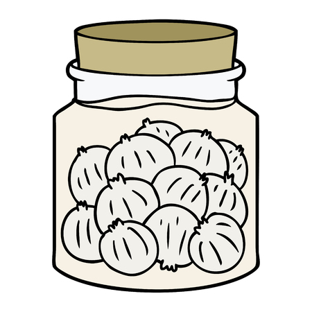 cartoon pickled onions
