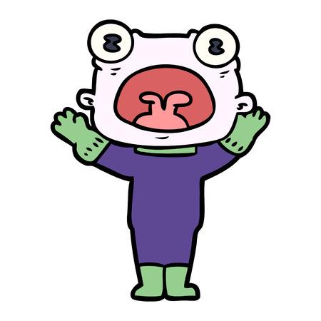 Estrangeiro estranho dos desenhos animados que comunica-se Foto de archivo - 94973050