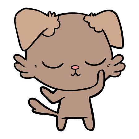 cute cartoon dog Vector illustration. Banco de Imagens - 94908069