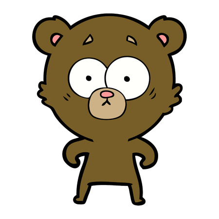 surprised bear cartoon Vector illustration. Imagens - 94908101