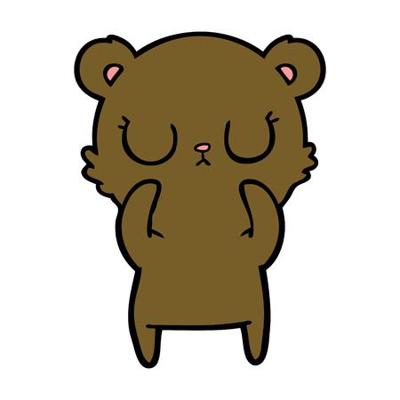 평화로운 만화 곰