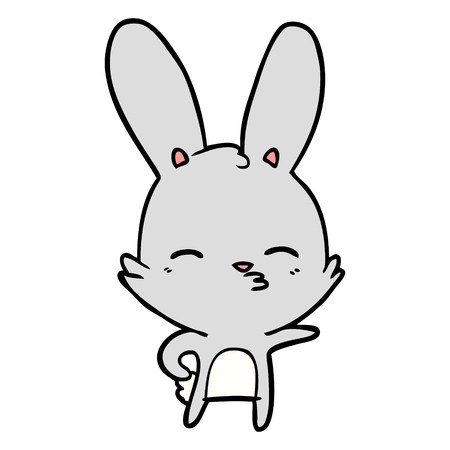 Curious bunny cartoon Иллюстрация