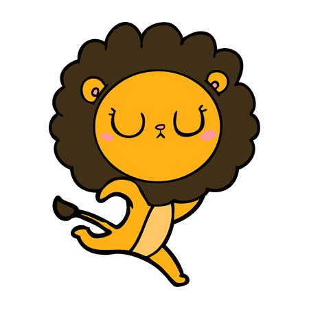 Cartoon running lion