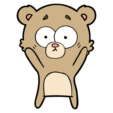 Worried bear cartoon Illusztráció