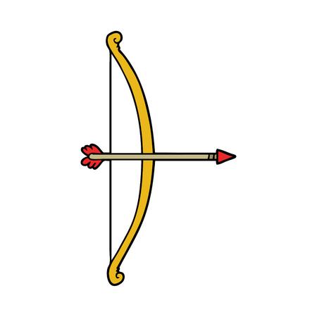 Cartoon bow and arrow Ilustração