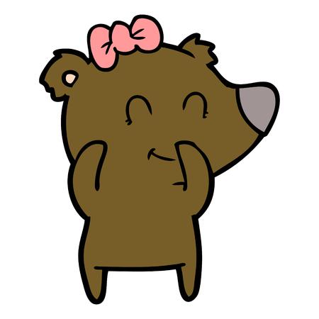 Cartone animato orso femmina Archivio Fotografico - 94909830