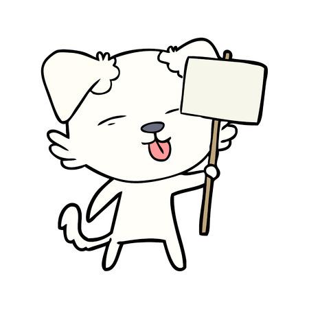 漫画犬保持看板ポスト
