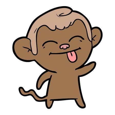 재미있는 만화 원숭이 스톡 콘텐츠 - 94909655