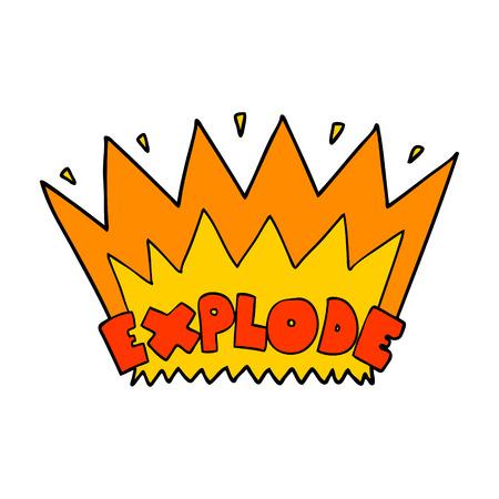 cartoon explosion Ilustração
