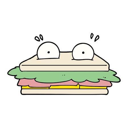 Personagem de desenho animado sanduíche Foto de archivo - 94911344