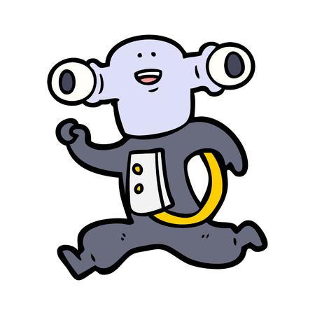 Corrida alienígena amigável dos desenhos animados Foto de archivo - 94910708