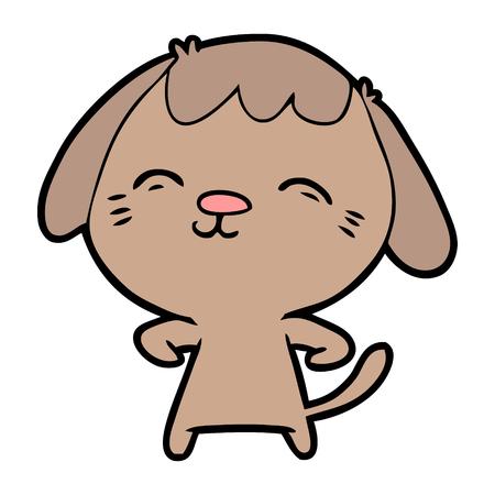 happy cartoon hond