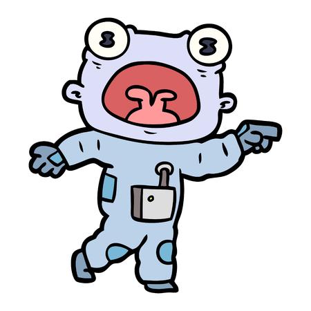 Strano alieno di cartone animato