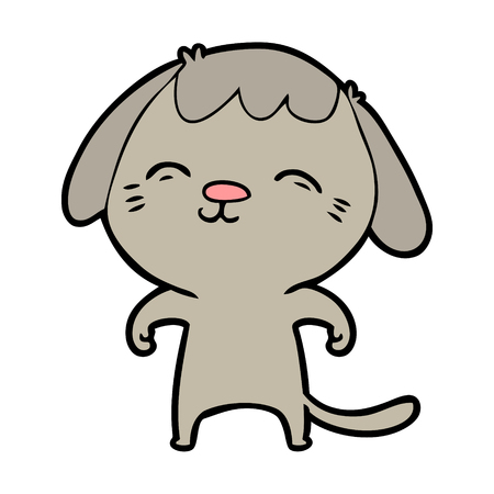 Happy cartoon hond Stock Illustratie