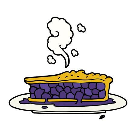 cartoon blueberry pie Ilustracja