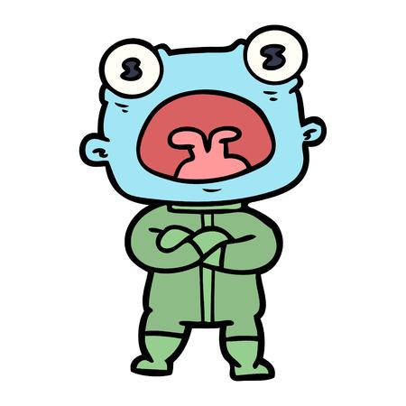 Estrangeiro estranho dos desenhos animados que comunica-se Foto de archivo - 94915605