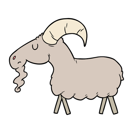 cartoon goat Illustration