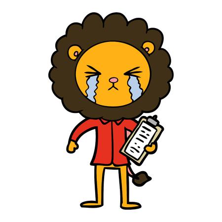 クリップボードでライオンを泣く漫画