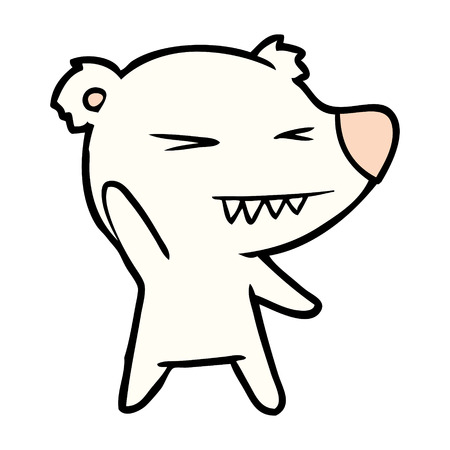 Angry polar bear cartoon vector