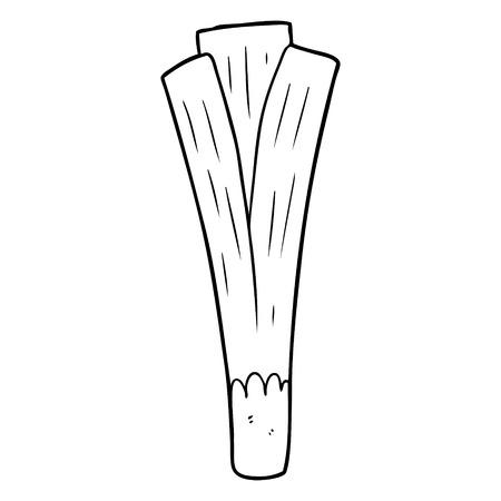 Line drawing of a organic leek