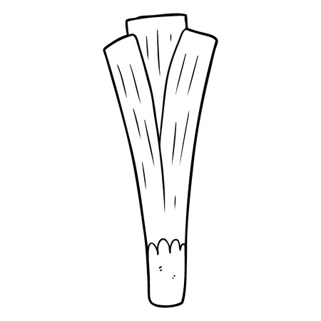 Line drawing of a organic leek