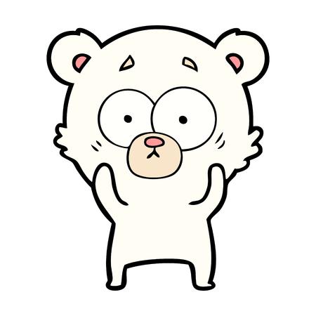 Surprised polar bear cartoon vector