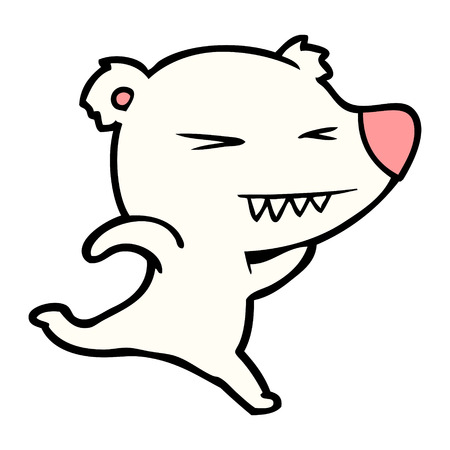 Running polar bear cartoon vector